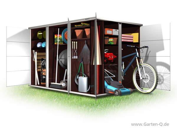 Gartenschrank als Fahrradgarage